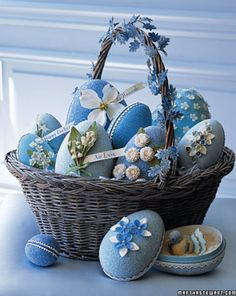 Splendid basket full of Sass—Blue eggs. For handmade greeting cards visit me at My Personal blog: http://stampingwithbibiana.blogspot.com/