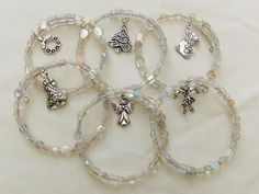 Memory Wire Christmas Napkin Rings Set of 6 by OswestryJewels