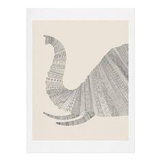 Florent Bodart Elephant Beige Art Print | DENY Designs Home Accessories