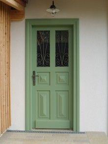 Eingangstüre grün kiefer massiv …