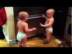 Babies fighting