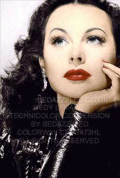 HEDY LAMARR TECHNICOLOR CONVERSION BY BEDAZZZLED PREV B/W