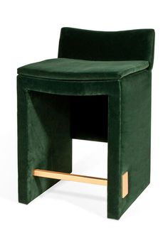 Fully Upholstered Bar Stool with Stretcher