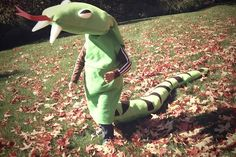 #HandmadeHalloween  ~Cutest Handmade Halloween costumes for kids: felt stuffed snake