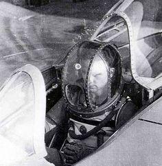 Erwin Ziller in Draeger pressure suit for Ho-IX/Go-229 flight, 1945
