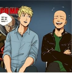 saitama, genos, and one punch man Bild