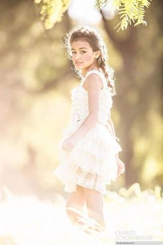 Rustic Lace Flower Girl Dress Flower Girl by CountryCoutureCo