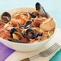 Scoglio (Seafood Pasta) - Joe Bastianich is a famed restaurateur, winemaker, author, and television personality. Bastianich is a judge on the hit FOX series Mas recipes pasta Seafood Pasta Recipes, Seafood Dishes, Fish And Seafood, Fish Recipes, Seafood Linguine, Seafood Stew, Pasta Dishes, Good Food, Yummy Food