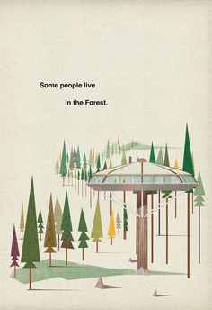 Tree houses / Poster