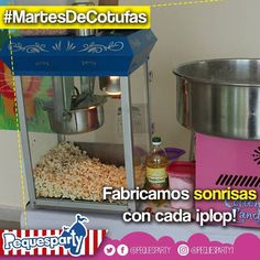 En este #MartesDeCotufas las nuestras son las más crujientes y ricas de toda la ciudad. Pruebalas!  #pequesparty #cotufas #martesdecotufas #maracaibo #fiestasmaracaibo #igersmaracaibo #eventos #fiestainfantil #animacion #diversion