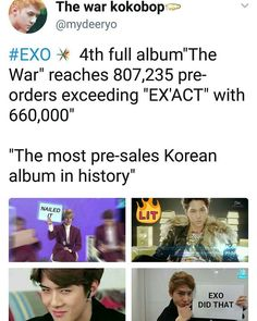 Congratulations, Exo and Exo-l's! This is such a big accomplishment, and I'm super happy, and proud for all of you <3 Exo, Fighting!
