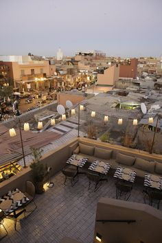 Where to eat in Marrakech – Nomad & Le Jardin Nomad Restaurant, Terrace Restaurant, Rooftop Terrace, Morroco Marrakech, Places Around The World, Around The Worlds, Rooftop Party, Lounge Ideas, Romantic Places