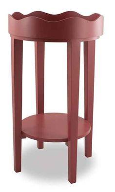 "Marsala Round Wood Tray Table, 28"" - Kolorful Kitchen"