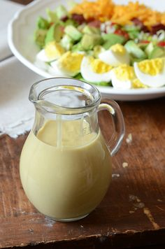 Roasted Garlic Salad Dressing...after roasting, garlic is nutty, sweet, and mellow-flavored, and perfect for making into a healthy salad dressing!