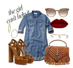 """""""Slight work"""" by visualxtasy on Polyvore featuring Jennifer Lopez, Abercrombie & Fitch, Thierry Lasry, Delfina Delettrez, Yves Saint Laurent, Bony Levy, women's clothing, women's fashion, women and female"""