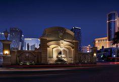 Fuente de la entrada del tiempo compartido Marriott's Grand Chateau en Nevada, Estados Unidos