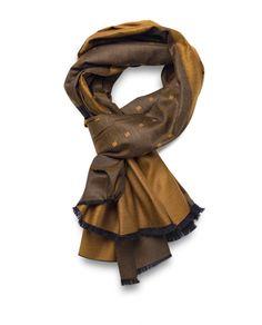 Marino-Silk Blend Reversible Scarf in Brown - Qind Design Blanket Scarf, Scarves, Wool, Silk, Brown, Stuff To Buy, Design, Fashion, Scarfs