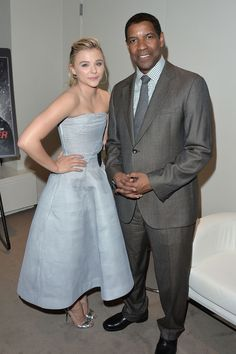 """Chloë Grace Moretz and Denzel Washington looking cool and classy at """"The Equalizer"""" premiere - TIFF Fashion"""
