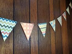 How to make a paper pennant banner