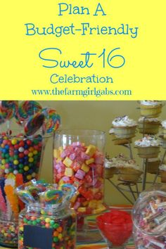 Plan a Budget-Friendly Sweet 16 Celebration.  How Does Your Garden Grow? www.thefarmgirlgabs.com