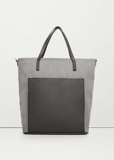 Contrasting bag | MANGO