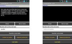 Transcripción, app Android para transcribir textos o grabarlos en audio