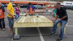 Deck Clinic on Saturday April 26. Customers got hands on experience!