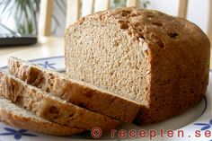 Lantbröd för bakmaskin - Recept på lantbröd för bakmaskin. Innehåller lantbrödsmjöl.