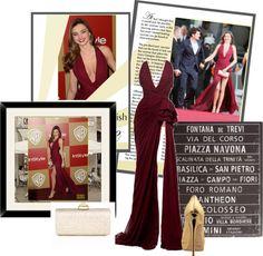 """""""Golden Globes Awards 2013: Miranda Kerr"""" by zoe-keredy ❤ liked on Polyvore"""