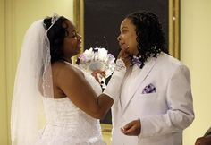 Darcia Anthony, left, and her partner, Danielle Williams getting married in Maryland. Just look at the love. Same sex marriage in all states, please! Lgbt Wedding, Wedding Couples, Got Married, Getting Married, Gay Couple, Newlyweds, Maryland, Wedding Styles, Marriage