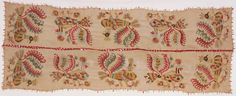 Cover  Multicolored cocks design. Made in Northern Sporades (Skyros), Greece  18th century  Linen plain weave with silk embroidery in darning, satin, and split stitches