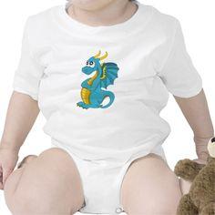 Infant creeper with dragon cartoon