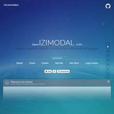 iziModal.js - Elegant, responsive, flexible and lightweight modal plugin with jQuery.