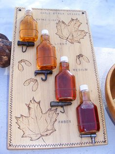 Maple Syrup Colors - it's almost sugaring time!