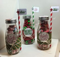 Stampin' Fun with Diana: Quick and Easy Last Minute Christmas Gifts Mingle all the Way Merry Everything Christmas Gifts Quick and Easy Stampin' Up Diana Eichfeld Christmas Paper Crafts, Christmas Jars, Stampin Up Christmas, Diy Christmas Gifts, Holiday Crafts, Christmas Ideas, Merry Christmas, Homemade Christmas, Christmas Inspiration