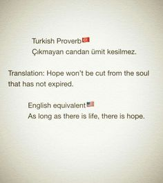 A Turkish Proverb