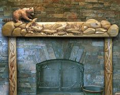 The Carved Fireplace Mantle Shelf . . . A Cut Above The Rest!