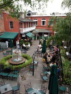 Patio of Pat O'Brien's New Orleans. Home of the original Hurricane.... soooo good!