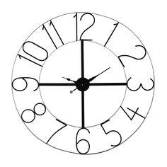 Reloj negro de metal Diám. 105 cm UNION STREET