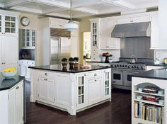 White with Black countertop