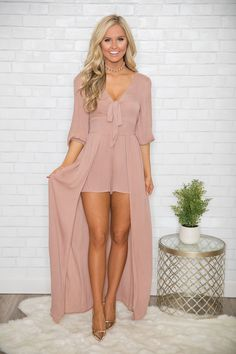 Stylish sophisticate maxi romper - the pink lily Unique Outfits, Stylish Outfits, Fashion Outfits, Womens Fashion, Fashion Trends, Grad Dresses, Short Dresses, Summer Dresses, Formal Dresses