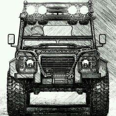 Discover recipes, home ideas, style inspiration and other ideas to try. Land Rover Defender 110, Defender 90, Lander Rover, Off Road Adventure, Military Vehicles, Cool Cars, Monster Trucks, Automobile, Military Tank