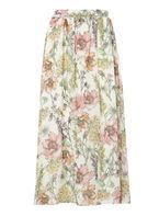 Womens Petite Floral Maxi Skirt- White
