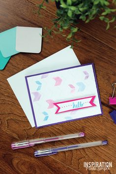 DIY Watercolor Embos