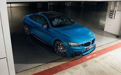 Scarica sfondi BMW M4 Coupé, 2017, Blu M4, sport auto, auto tedesche, BMW