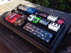 Here is my new pedalboard. I've been on TGP for 18 months joining after nearly 10 years of not playing guitar and then spending. Guitar Effects Pedals, Guitar Pedals, Guitar Pedal Board, Playing Guitar, Music Is Life, Pedalboard Ideas, Live Feed, Geeks, Rigs
