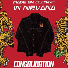 THE CONSOLIDATION VINTAGE DENIM JACKET BY CLOWNZ ® AND NIRVANA