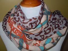 INFINITY Scarf Silk Chiffon Scarf Long Soft wrap by Natalyfashion