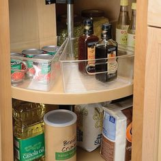 $11.99 · Idesign Cabinet Binz Lazy Susan Eighth Wedge Storage Bin Clear - The durable, clear plastic Cabinet Binz Lazy Susan Storage Bin from InterDesign is designed as an organized storage solution for the inside of cabinets. This bin is an eighth wedge, so you can use 8 of them to make a whole circle. #kitchendesign #kitchen