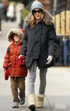 Sarah Jessica Parker also seen wearing Canada Goose outerwear.